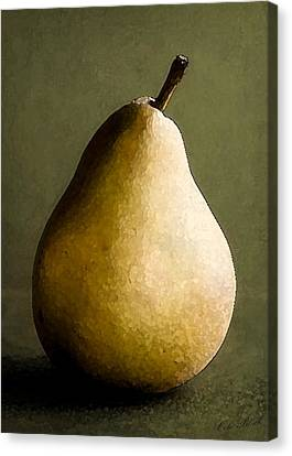 Pear Canvas Print by Cole Black