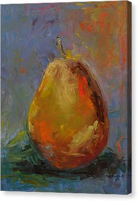 Pear For Becky Canvas Print by Susie Jernigan