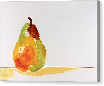 Pear In Autumn Canvas Print by Frank Bright