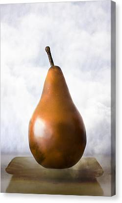 Pear In The Clouds Canvas Print by Carol Leigh