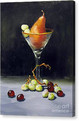 Canvas Print featuring the painting Pear Martini by Carol Hart