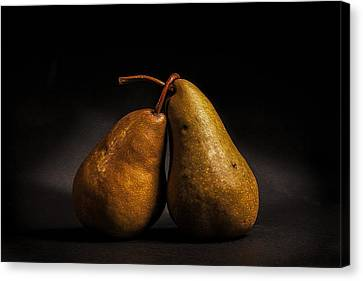 Pear Of Lovers Canvas Print by Peter Tellone