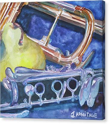 Pear Roadie Canvas Print by Jenny Armitage
