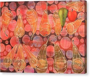 Pear Sphere Canvas Print by Adel Nemeth