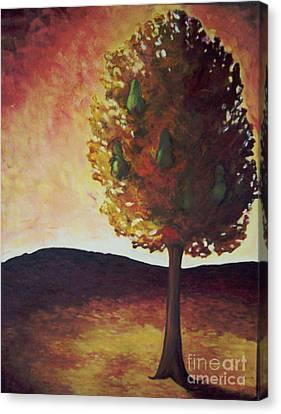 Pear Tree Canvas Print by Samantha Black