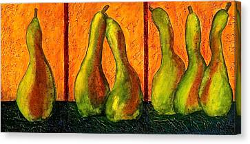 Pear Whimsy Canvas Print by Bellesouth Studio