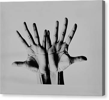 Pearl Bailey's Hands Canvas Print by Bert Stern