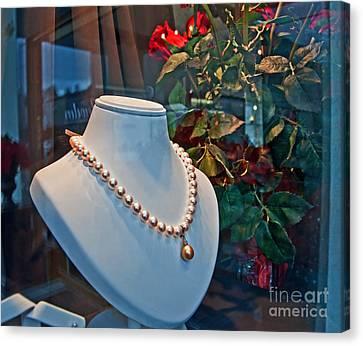 Pearl Drop Necklace Art Prints Canvas Print