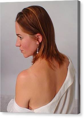 Pearl Earring Canvas Print by Don McCunn