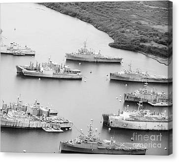 Pearl Harbor Battleships Canvas Print