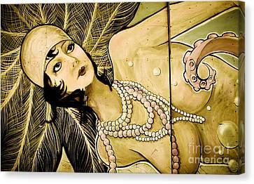 Pearl Mermaid  Canvas Print by Colleen Kammerer