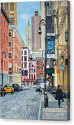 Pearl Paint Canal St. From Mercer St. Nyc Canvas Print by Anthony Butera