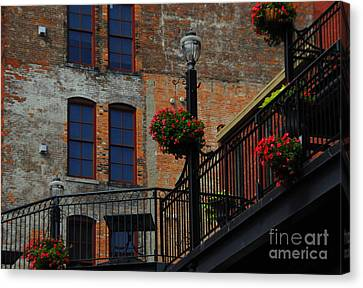 Pearl Street Grill Canvas Print by Kathleen Struckle