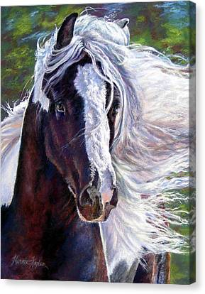 Pearlie King Gypsy Vanner Stallion Canvas Print