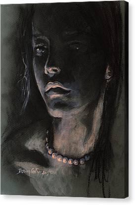 Pearls Canvas Print by Dorina  Costras