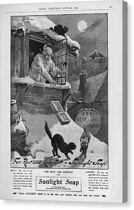 Pears  1899 1890s Uk Cc Sunlight Winter Canvas Print by The Advertising Archives