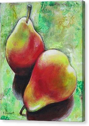 Pears 2 Canvas Print by Sheila Diemert