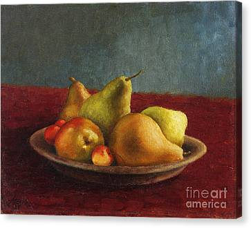 Pears And Cherries Canvas Print