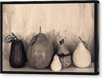 Pears And Pears Canvas Print by Marsha Heiken