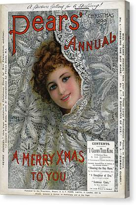 Pears Annual 1899 1890s Uk Cc Christmas Canvas Print by The Advertising Archives