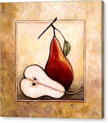 Pears Diptych Part Two Canvas Print by Linda Mears