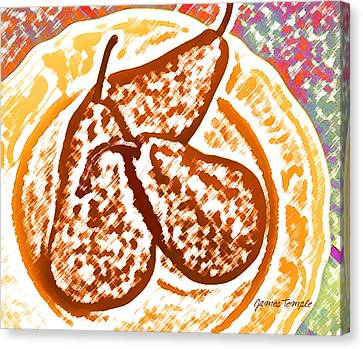 Pears Canvas Print by James Temple