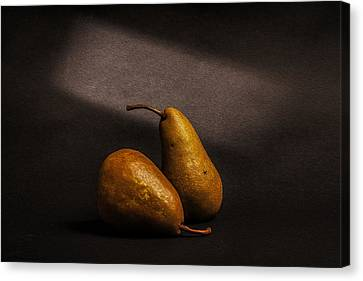 Pears Canvas Print by Peter Tellone