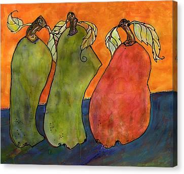 Pears Surrealism Art Canvas Print by Blenda Studio