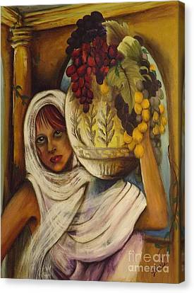 Grape Pickers Canvas Print - Peasant Girl by GR Bell