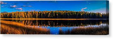 Canvas Print featuring the photograph Peavine Pond Panorama by Rob Tullis