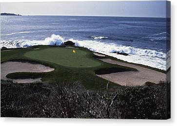 Pebble Beach 7th Hole Canvas Print by Retro Images Archive