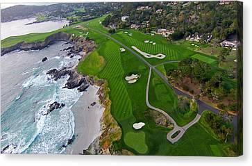 Pebble Beach Golf Course Canvas Print by David Levy