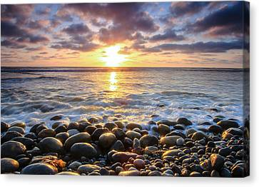 Pebble Beach Canvas Print