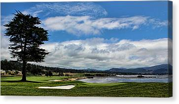 Pebble Beach - The 18th Hole Canvas Print