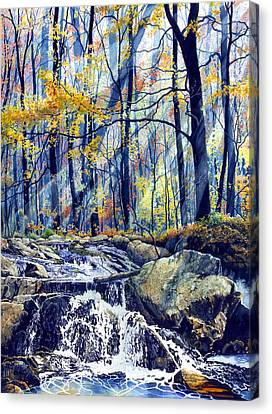 Autumn Leaf Canvas Print - Pebble Creek Autumn by Hanne Lore Koehler