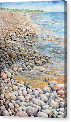 Pebbley Beach Canvas Print