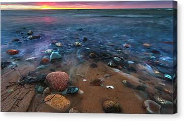 Pebbly Beach Canvas Print by Dapixara Art