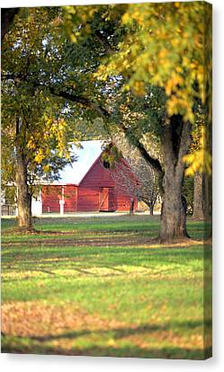 Canvas Print featuring the photograph Pecan Orchard Barn by Gordon Elwell