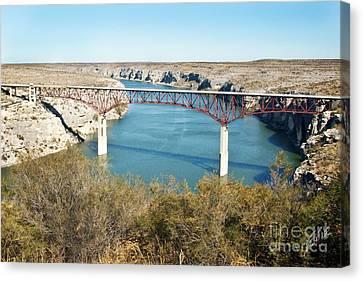 Canvas Print featuring the photograph Pecos Bridge by Erika Weber