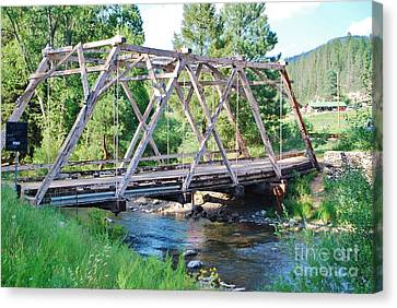 Canvas Print featuring the photograph Pecos River Bridge by William Wyckoff