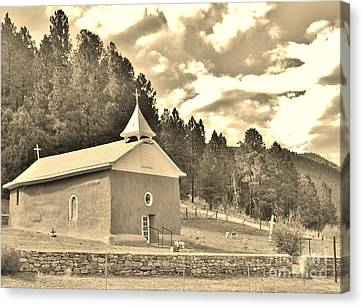Canvas Print featuring the photograph Pecos Roadside by William Wyckoff