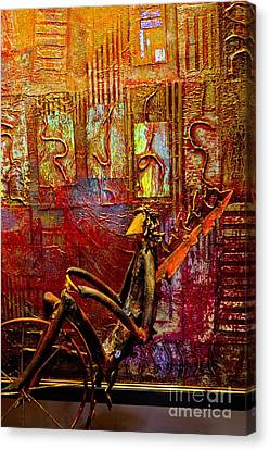 Pedaling On Rodeo Drive Canvas Print by Al Bourassa