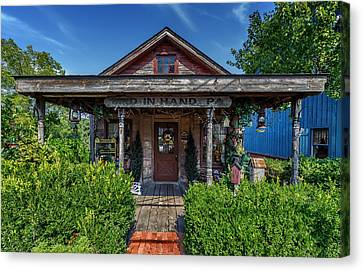 Colonial Man Canvas Print - Peddlers Cottage - Bird In Hand Pennsylvania by Frank J Benz