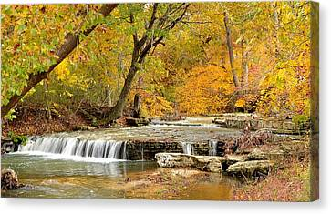 Canvas Print featuring the photograph Pedelo Falls by Deena Stoddard