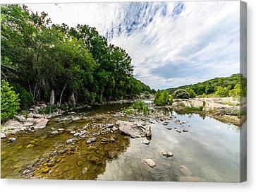 Pedernales River - Downstream Canvas Print by David Morefield