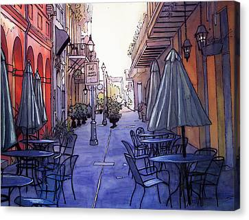 Pedestrian Mall  212 Canvas Print by John Boles