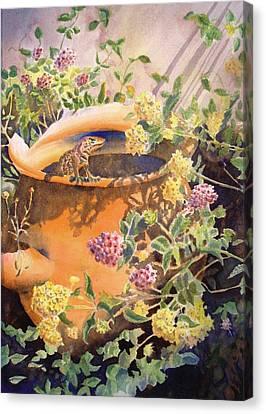 Peek-a-boo Canvas Print by Deb  Harclerode