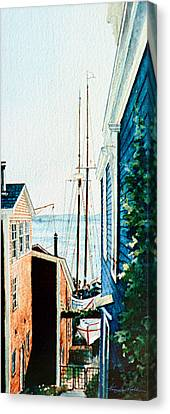 Peek At The Bluenose Canvas Print by Hanne Lore Koehler