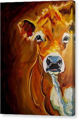 Peek Cow Canvas Print