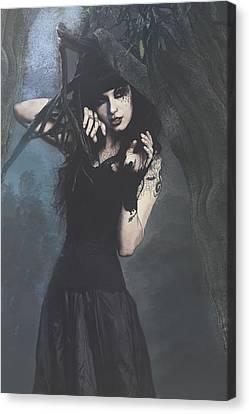 Peek Gothic Scene Canvas Print